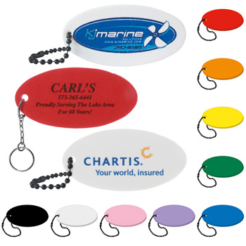 Foam Floating Key Tag - Oval
