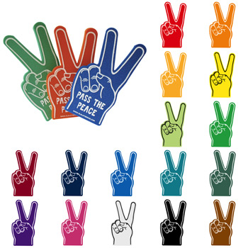 Foam Hand Peace/ Victory Sign