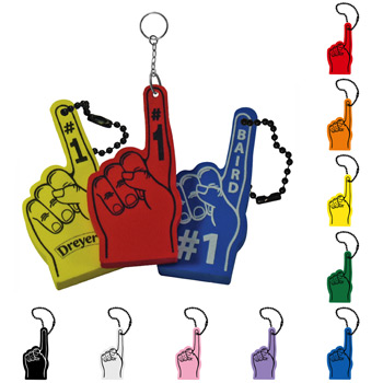 Number One Foam Hand Key Chain