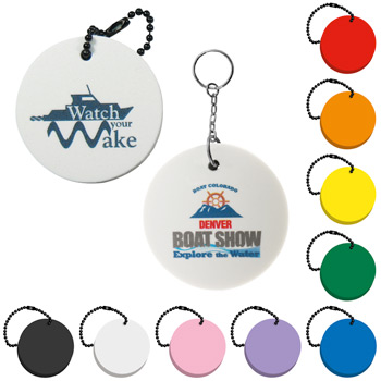 Foam Floating Key Tag - Circle